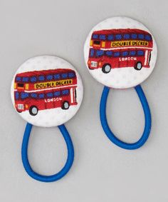 Take a look at this Cream Double-Decker Bus Hair Tie Set on zulily today!