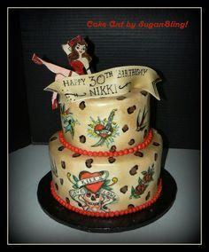 Rockabilly Birthday Cake Torten Pinterest Rockabilly - Rockabilly birthday cake