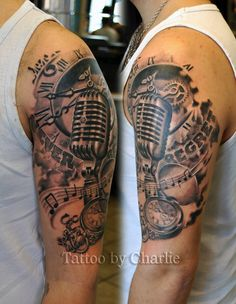 Pocket watch with microphone by gettattoo