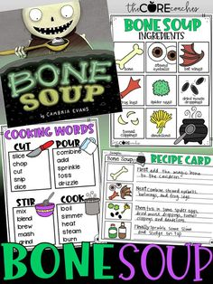 Bone Soup is a great story. Kids will love writing their own recipes. #Halloweenfirstgrade