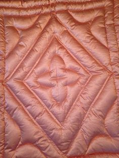 Vtg Pink Quilted Satin Down Filled Comforter Spread  Shabby Chic Hollywood Glam