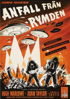 Classic Movie Posters Prove that Everything Is Better in Swedish -- Earth vs. the Flying Saucers, 1956