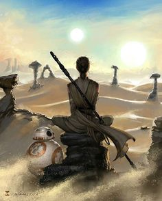 """sonia-ms: """" Episode VII is coming! :D Prints available at my Society6 shop #StarWars #rey #BB8 #art #illustration #digitalart #drawing #draw #gorgeus #artist #photoshop #digitalillustration..."""
