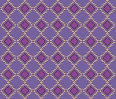 Out_West_3_Orchid fabric by ©_lana_gordon_rast_ on Spoonflower - custom fabric