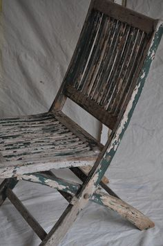 wooden folding chair with chippy green paint vintage shabby chic antique deco wooden chair swivel