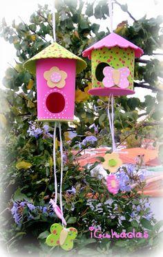 iCukadas: TUTORIAL/DIY : Casitas de pájaros decorativas