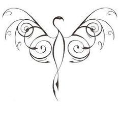 Phoenix tatoo idea use a pink breast cancer ribbon for body Tribal Phoenix Tattoo, Phoenix Bird Tattoos, Phoenix Tattoo Design, Tribal Tattoos, Simple Phoenix Tattoo, Phoenix Tattoo Feminine, Tribal Drawings, Triangle Tattoos, Elephant Tattoos