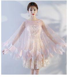 저녁 드레스 여성 2018 새로운 들러리 드레스 파티 작은 드레스 스커트 짧은 단락 학생 졸업 파티 드레스