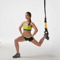Put a spin on the classic lunge by using a TRX.