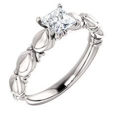 Pretty sure I love this ring - I love this mounting! - Beautiful Anniversary Ring - http://www.mybridalring.com/Rings/round-sculptural-inspired-engagement-ring/