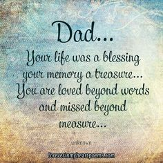 Image result for quotes about losing your dad