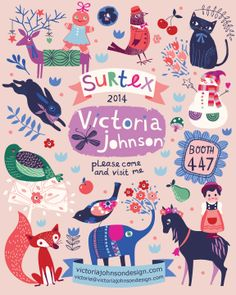 I'm going to be at Surtex!!! Please also see my Online Look Book to find out a bit more about who I am and what I do. issuu.com/victoriajohnson8/docs/victoria_johnson_surtex_look_book_?e=6063643/7563588 victoriajohnsondesign.com
