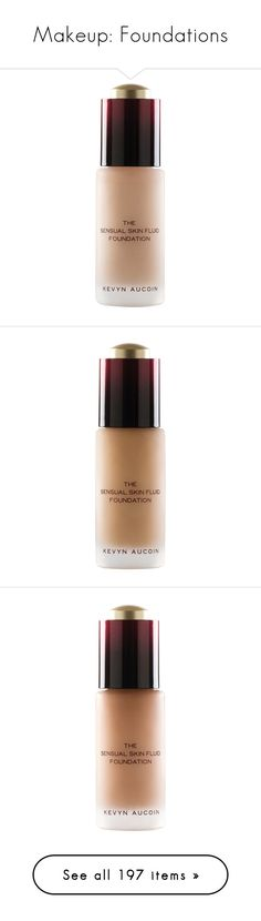 """""""Makeup: Foundations"""" by katiasitems on Polyvore featuring beauty products, makeup, face makeup, foundation, kevyn aucoin foundation, kevyn aucoin, cream, anti aging foundation, paraben-free foundation and long wearing foundation"""