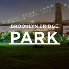 Brooklyn Bridge Park is a waterfront park along the East River in New York City. Fantastic views of lower Manhattan