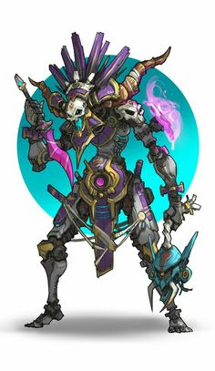 ArtStation - mole wang Good art reference for sci-fi sci if science fiction robots Game Character Design, Fantasy Character Design, Character Design References, Character Design Inspiration, Character Concept, Character Art, Monster Design, Robot Design, Dark Fantasy