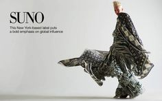 Suno by Creative, Art, Photo, Fashion Director & Stylist Vinny Michaud with Model Dorith Mous flowing in Patterns. Designer Women's Spring Fashion by Stylist Vincent Michaud.