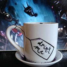 Hey, I found this really awesome Etsy listing at https://www.etsy.com/listing/219274139/down-the-rabbit-hole-cup-and-saucer