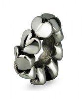 Stříbrný Oddělovač Srdcový kroužek - OHM Beads