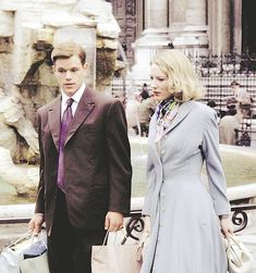 Matt Damon and Cate Blanchett as Meredith Logue in The Talented Mr. Ripley…