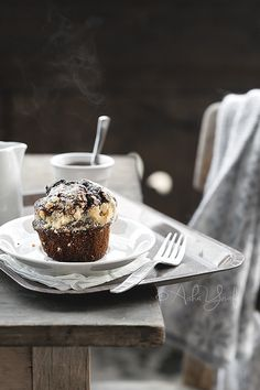 Double Chocolate Streusel Muffin by aisha.yusaf, via Flickr
