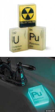 Nuclear Glow in the Dark Soap.