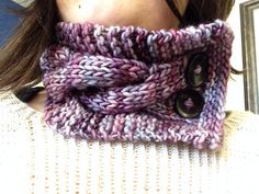 Quick Cabled Cowl by Gabrielle O'Leary ¬ malabrigo mecha in Lotus
