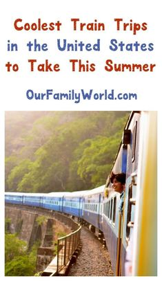 Flying is so over-rated, don't you think? If you're looking for amazing travel destinations, you can't beat a train trip! Check out these train-based vacation ideas! #TravelDestinationsUsaFamilyVacations