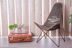 "Chaise papillon industrielle ""Relax"" - BARAK'7"