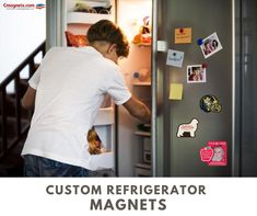 Fetch your magnets, Pitch your brand! #fridgemagnets #refrigeratormagnets #brandpromotions #customrefrigeratormagnets #magnets Refrigerator Magnets, Pitch, Mens Tops