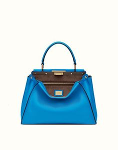FENDI Fendi Womens 8Bn2903Zmf077N Blue Leather Tote. #fendi #bags #shoulder bags #hand bags #leather #tote