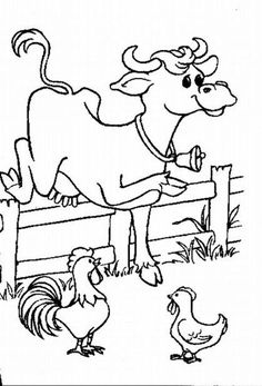 Cow & chickens