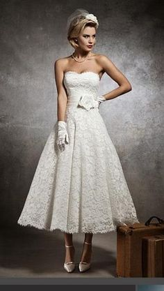 Hochzeitskleid 50s