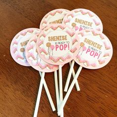 15 piece Ready To Pop Cupcake Toppers w/ Stick