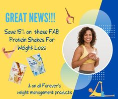 If you'd like to save 15% on these nutritious protein shakes for weight loss (and who wouldn't?!) all you need to do is click the embedded link to go to my Facebook page, where you'll find a special link qualifying you to save not just on Forever Lite, but on Forever's entire weight management product range. Hurry, though, as it's the first 99 to click who qualify to buy at these prices!