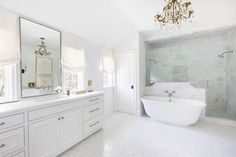 Marble bathrooms 106960559883865546 - From a glamorous mirrored space to floor-to-ceiling marble marvels, these elegant and timeless bathrooms have a chic, spa-like appeal. Spa Bathroom Decor, Marble Bathroom, Timeless Bathroom, Ideal Bathrooms, Marble Bathroom Designs, Bathroom Niche, Bath Design, Bathroom Design, Bathroom Decor