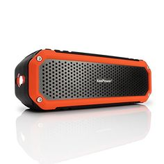 [10W Outdoor & Shower Speaker] KooPower C26 Bluetooth 4.0 Aluminum Speaker w/ Mic, Hook & Flashlight - Waterproof Wireless Speakers for Bathroom, Office, Car, Camping, Bicycling - Black / Orange Koopower http://www.amazon.com/dp/B0146GV5MK/ref=cm_sw_r_pi_dp_PQvqwb1G3G4KC