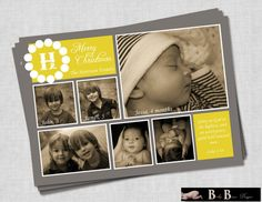 6 Photo/Picture Christian Christmas Card Gray by BabyBunsDesigns, $10.50