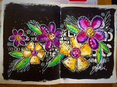 Tracy Scott - Journal page I taught in class yesterday at Country View Crafts