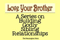 Obedience to parents is key to siblings getting along....great post!