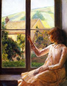 Child at the Window (Edith Perry) Lila Cabot Perry