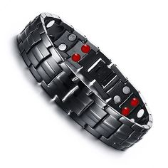 Find More Hologram Bracelets Information about IP Black Plating Matte Stainless Steel Magnet Health Bracelet For Men Fashion Jewelry Wholesale Pulseras Hombre Jewelry For Man,High Quality jewelry size,China bracelet led Suppliers, Cheap jewelry gold bracelet from LOVE ZM Jewelry on Aliexpress.com