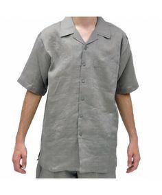 Grey Linen shirt and pants sets #linensets #fashion #mensfashion