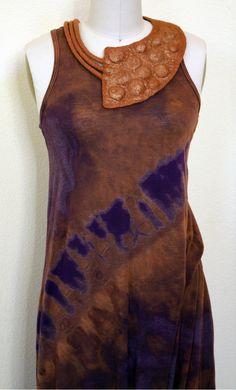 Großen gefilzte asymmetrische Kragen Bronze Wollfilz von GBDesign