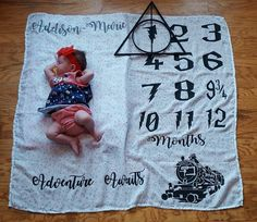 I'm not THAT much of a Harry Potter fan, but I love the idea of an embroidered blanket for those monthly pics! Will really put baby's growth into perspective too!