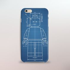 Lego Patent iPhone Case, Lego Blue Print Iphone 6 Covers, Iphone Cases, Cool Lego, Awesome Lego, Cool Cases, Phone Accessories, Unique Jewelry, Cyber, Handmade Gifts