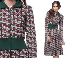 70s Mod Dress Geometric Print