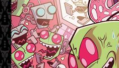 "Invader Zim's ongoing comic book adventures may be coming to a close this August, but there's still some comic book DOOMNESS to be had! Oni press will be releasing Invader Zim Vol. 5, Volume 5 Hardcover Deluxe Edition on Tuesday, September 14!""This collection featuring issues #41-50 of the critically acclaimed Invader ZIM comic has been genetically enlarged for your reading pleasure--no straining necessary!We're back at it to prove once and for all that good things can also come in big pack"
