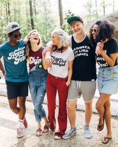 All the tees in this photo (and more!) are BUY 2 GET 1 FREE! Hooray! Shop the link in our profile! #walkinlove