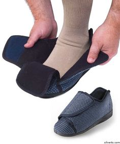 8696f6140677 Mens Extra Extra Wide Slippers - Swollen Feet - Diabetic   Edema Deep  Slippers