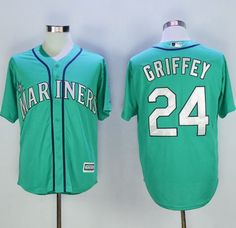 #Mariners #24 #Ken #Griffey Green New Cool Base 2016 Hall Of Fame Patch Stitched MLB Jersey